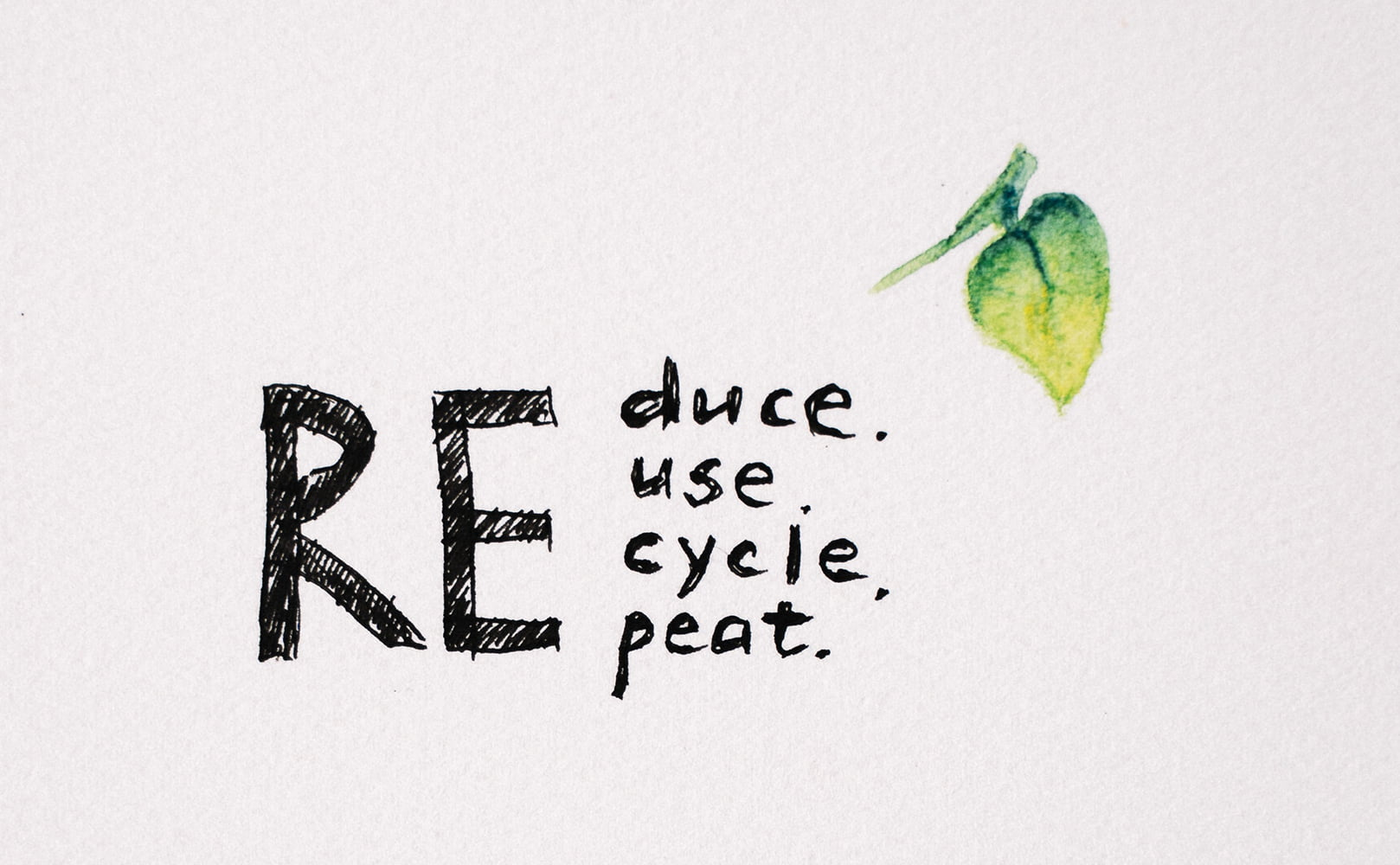 Paper Saying Reduce Reduce Recycle Repeat
