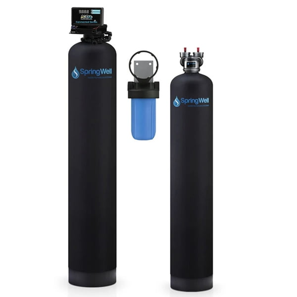 SpringWell WSSF Whole House Well Water Filter + Salt-Free Water Conditioner Combo