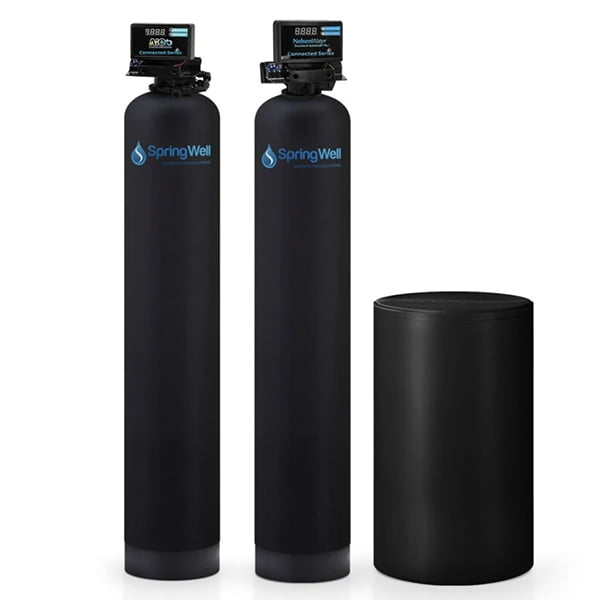 SpringWell WSSS4 Whole House Well Water Filter + Salt-Based Water Softener Combo
