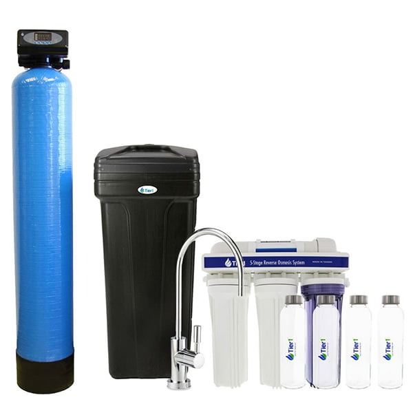 Tier1 Whole House Water Softener + POU Reverse Osmosis Drinking Water Filter System