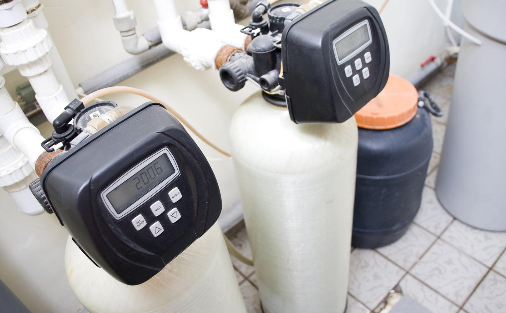 dual tank water softener setup